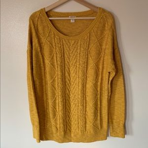 Mossimo • XL • Marigold Cable Knit Sweater